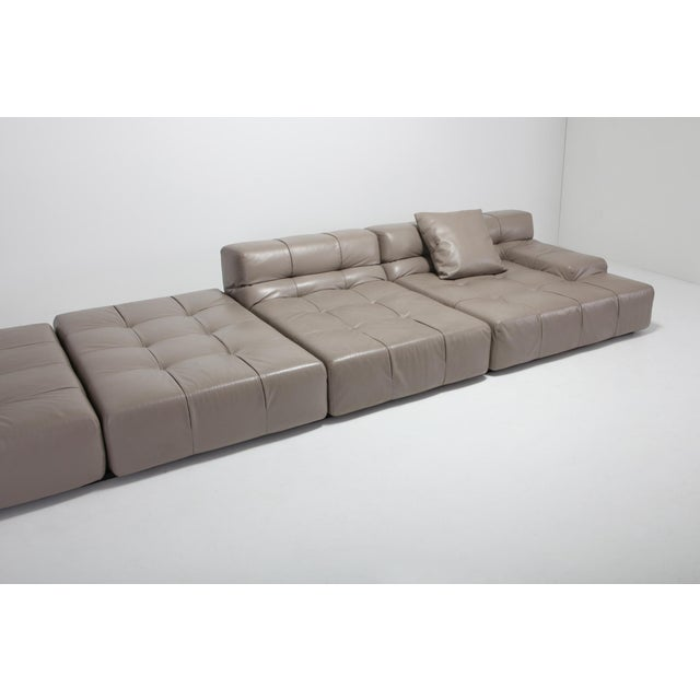 Tufty Time B&b Italia Taupe Leather Sectional Sofa by Patricia Urquiola For Sale - Image 10 of 11