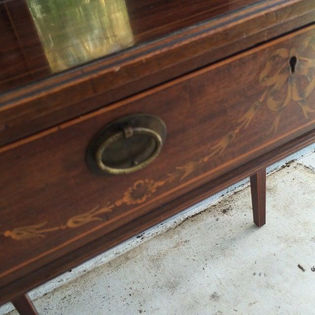 Antique Inlaid Wood Writing Desk - Image 4 of 11 - Antique Inlaid Wood Writing Desk Chairish