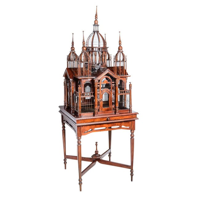 Architectural Bird Cage For Sale - Image 11 of 12