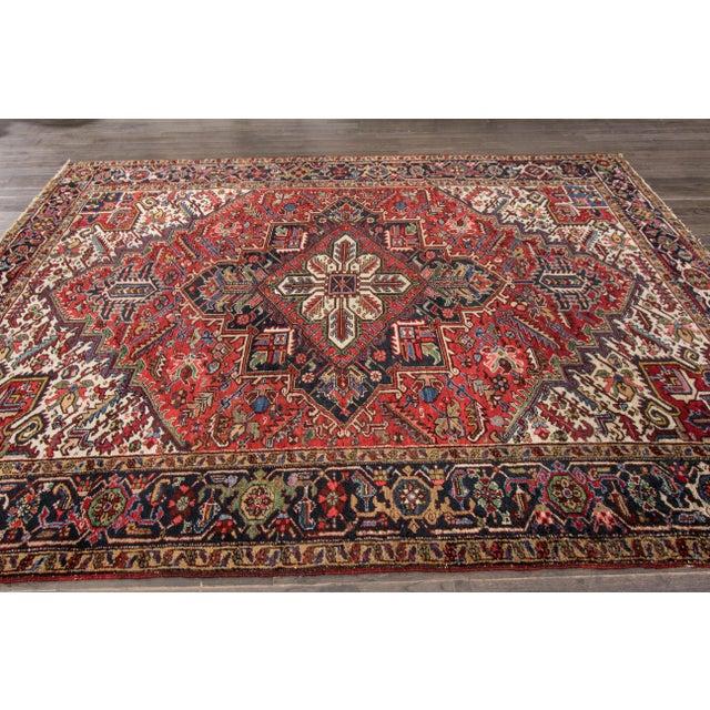 """Apadana - Vintage Persian Heriz Rug, 7'9"""" x 10'9"""" - Image 7 of 7"""