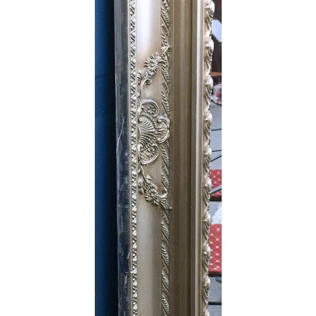 """89"""" High Silver Gilded Beveled Glass Floor Mirror For Sale - Image 11 of 12"""