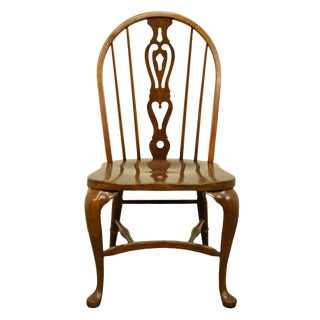 Early 20th Century Pennsylvania House Solid Oak Rustic Traditional Spindle-Back Dining Side Chair For Sale