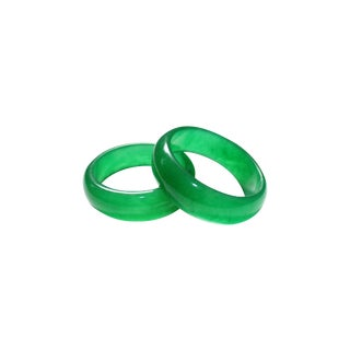 Green Jade Bangles - A Pair