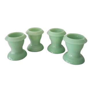 Mint Green Marble Candle Holders - Set of 4 For Sale