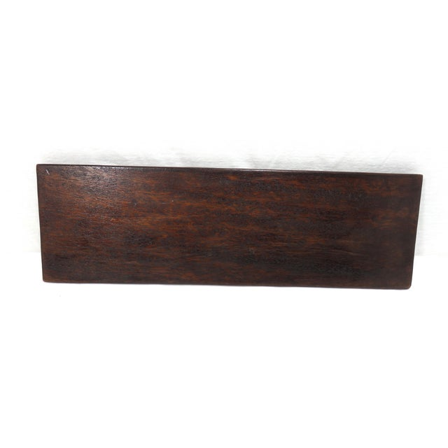 Brown Antique Carved Mahogany Cribbage Game Board For Sale - Image 8 of 13