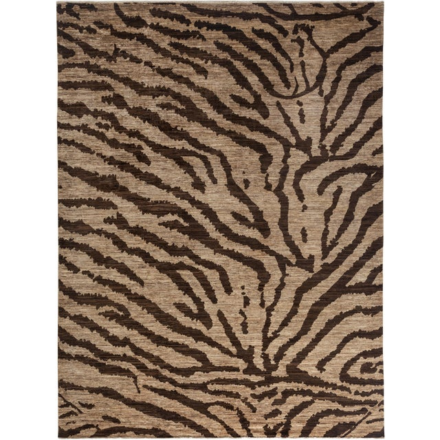 """Ziegler Hand Knotted Area Rug - 8'10"""" X 11'10"""" For Sale - Image 4 of 4"""