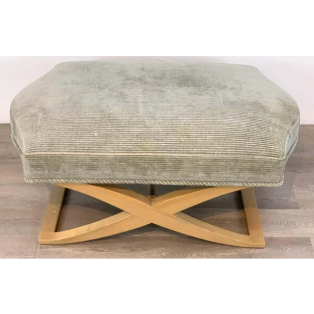 """Angelo Donghia Angelo Donghia """"Versailles"""" Blonde Wood Bench/ Ottoman by John Hutton For Sale - Image 4 of 7"""