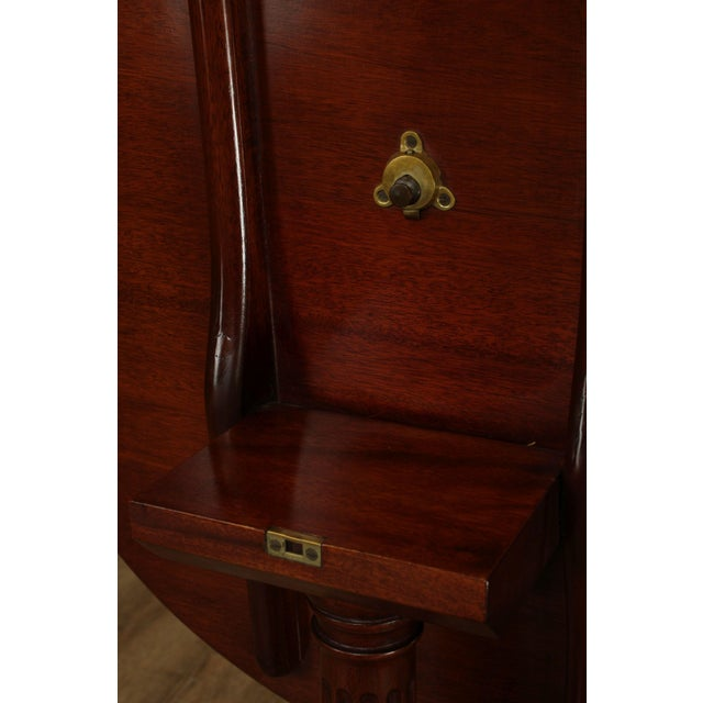 Wood Biggs Thomas Jefferson Round Mahogany Tilt Top Candlestand For Sale - Image 7 of 13
