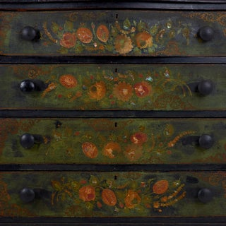 19th Century Victorian Polychrome Floral Painted Chest of Drawers Preview