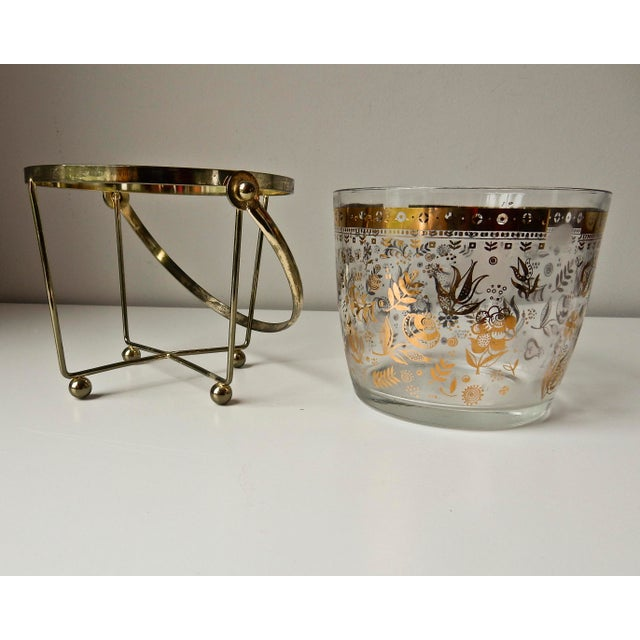 Georges Briard Glass 24K Gold Ice Bucket - Image 4 of 7
