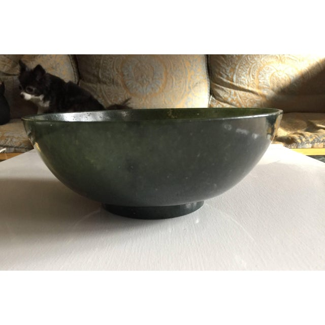 Chinese 19th Century Antique Chinese Jade Bowl For Sale - Image 3 of 6