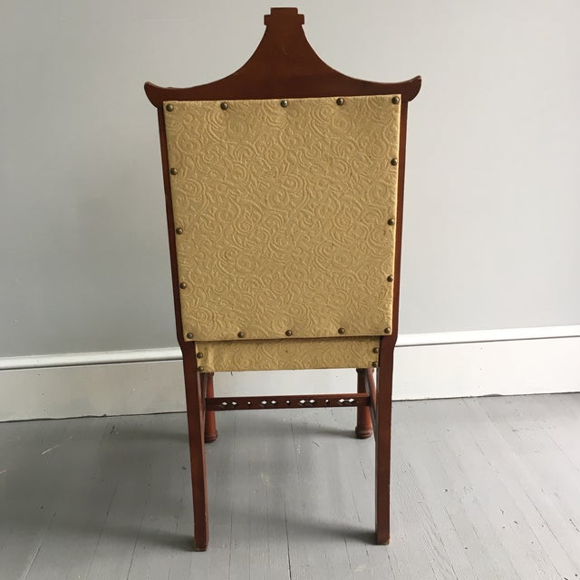 Antique Pagoda Side Chair - Image 4 of 9