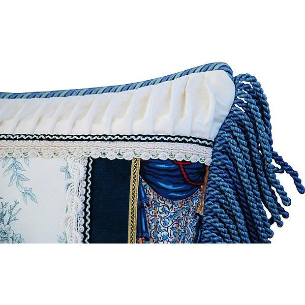 Designer Kravet Blue & White Chinoiserie Pillow - Image 4 of 5