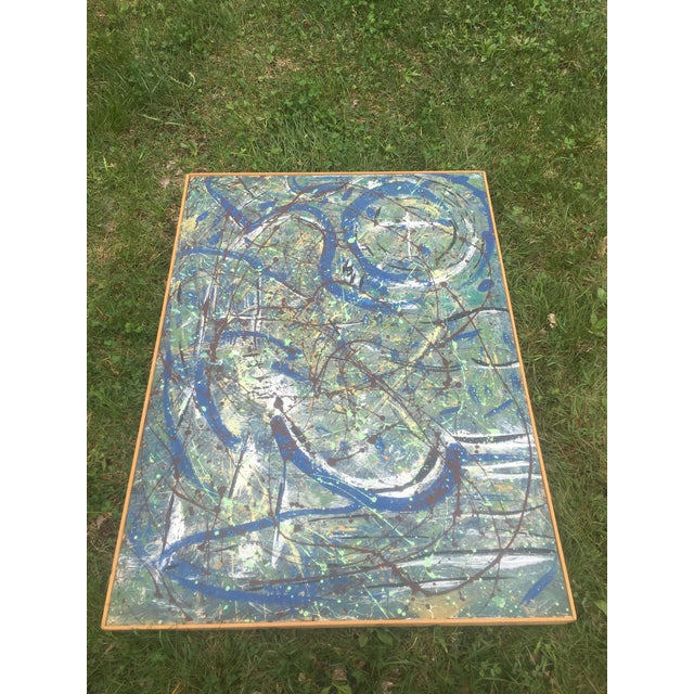 Abstract Expressionist Drip Glaze Style Painting For Sale In Chicago - Image 6 of 13