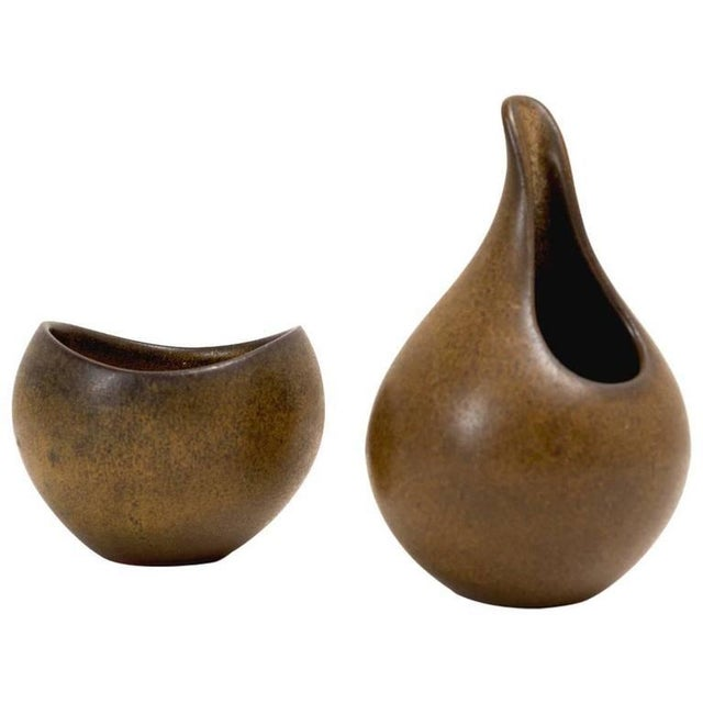 Danish Modern Ceramic Sugar and Creamer - Image 4 of 4