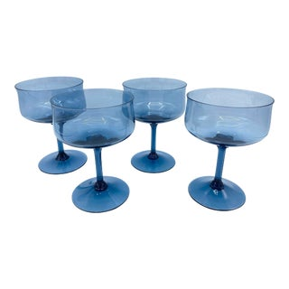 Vintage Lenox Smoke Blue Champagne Coupes-Set of 4 For Sale