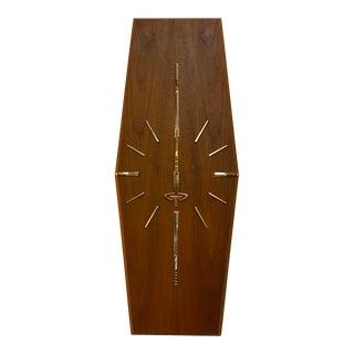 Mid-Century Walnut Wall Clock For Sale