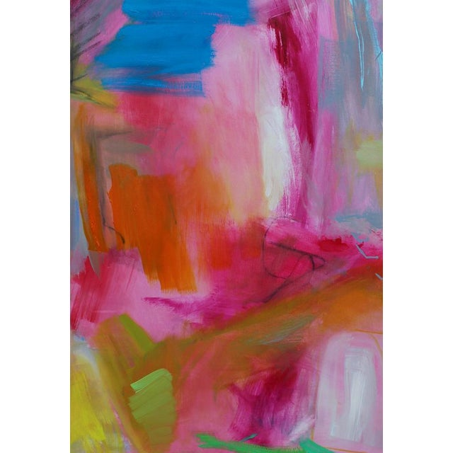 """Large Abstract Oil Painting by Trixie Pitts """"Florida Feeling"""" For Sale - Image 9 of 10"""