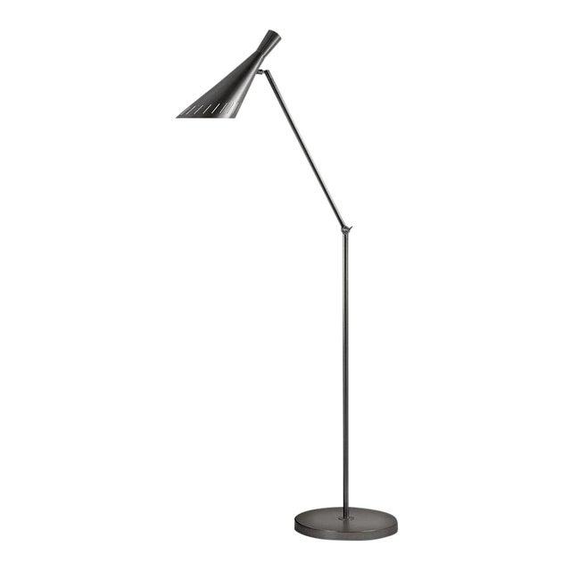 Metro Black Bronze Floor Light With Adjustable Head For Sale