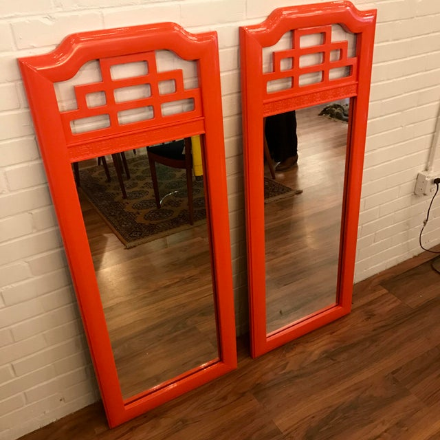 Lacquered Henry Link Mandarin Mirrors - A Pair - Image 2 of 4