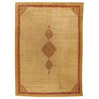 Antique 19th Century Indian Agra Carpet For Sale