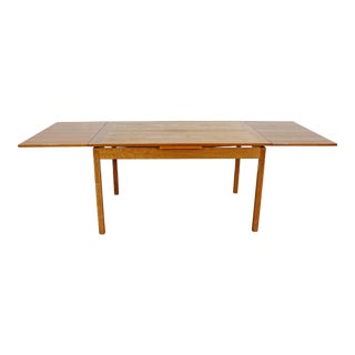 Mid-Century Danish Modern Extendable Teak Dining Table For Sale