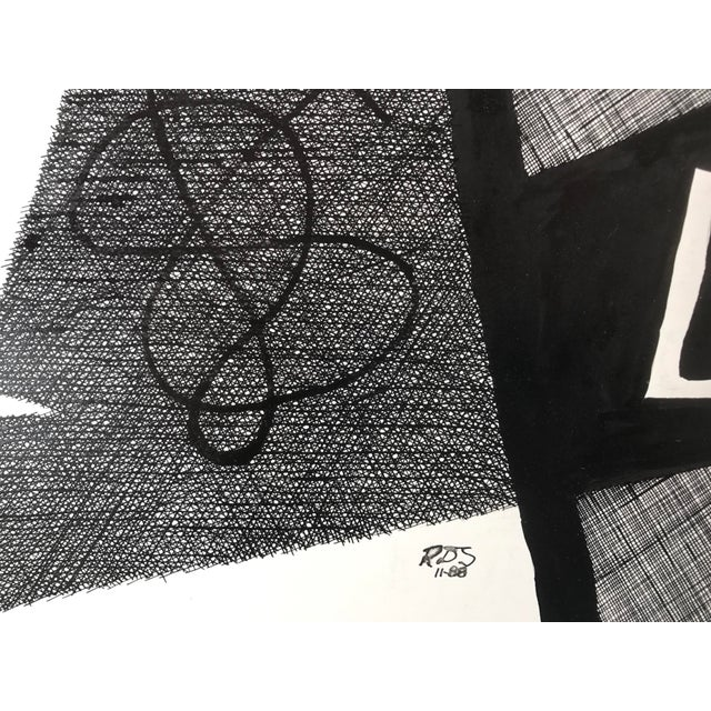 Vintage Roger Stokes Pen & Ink Abstract Drawing - Image 6 of 6