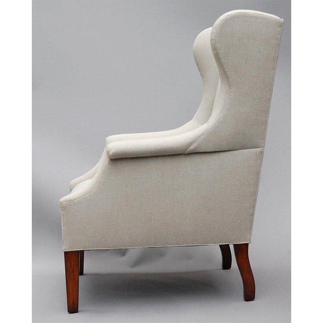"""Not Yet Made - Made To Order """"Somerton"""" by Lee Stanton Armchair Upholstered in Belgian Linen or Custom Fabric For Sale - Image 5 of 9"""
