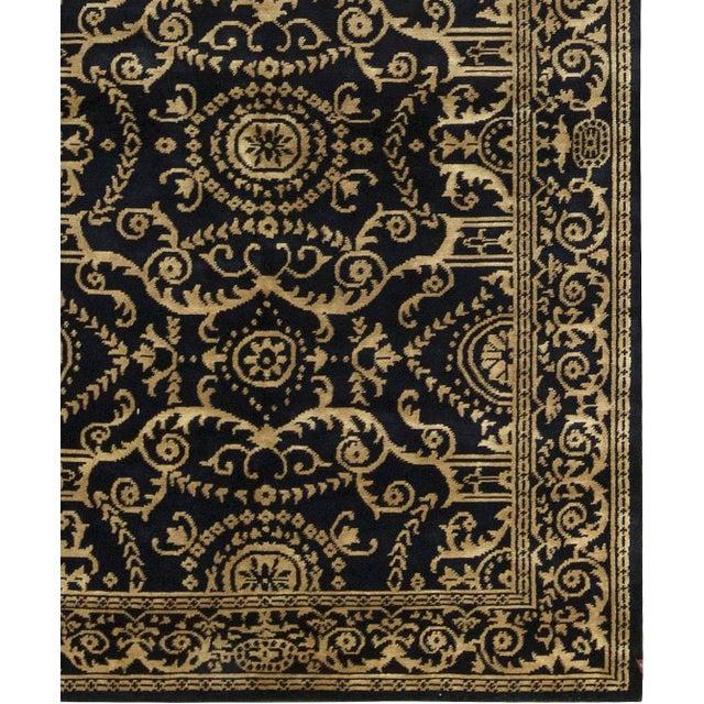 "Tibetan Contemporary Hand Woven Wool Rug - 5'11"" X 9' - Image 3 of 3"