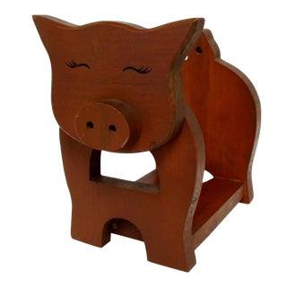 Carved Wood Book Holder