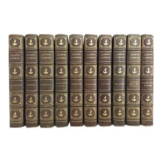 Early 20th Century Nautical Fiction Books, the Works of Joseph Conrad - 10 Volumes For Sale