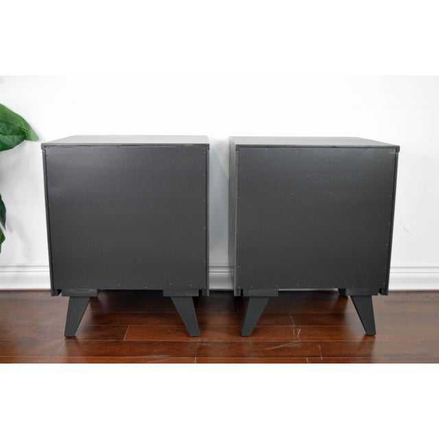 Mid Century Modern Kent Coffey Black Lacquered Side Tables – a Pair For Sale - Image 11 of 13
