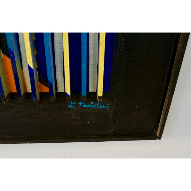 Abstract Louvered Abstract Painting by Louis Nadalini For Sale - Image 3 of 9