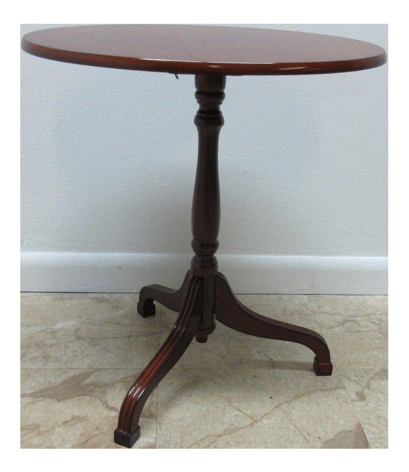 Bombay Company Cherry Tilt Top Oval Lamp End Table