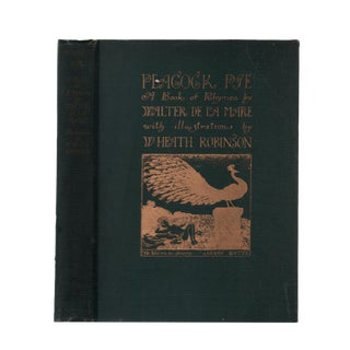 "1928 ""First Edition, Peacock Pye: A Book of Rhymes"" Collectible Book For Sale"