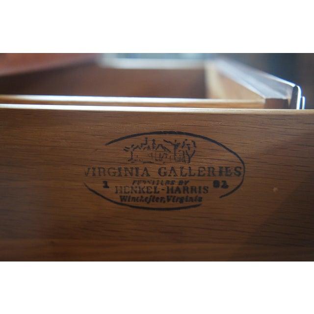 1982 Henkel Harris Chippendale Wild Black Cherry Tallboy Dresser For Sale - Image 4 of 13