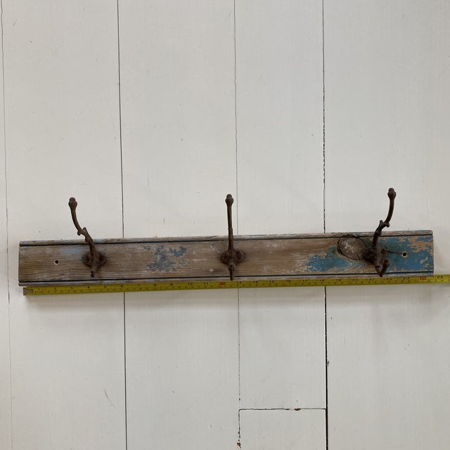 Metal Antique Rustic French Wall Hooks For Sale - Image 7 of 9