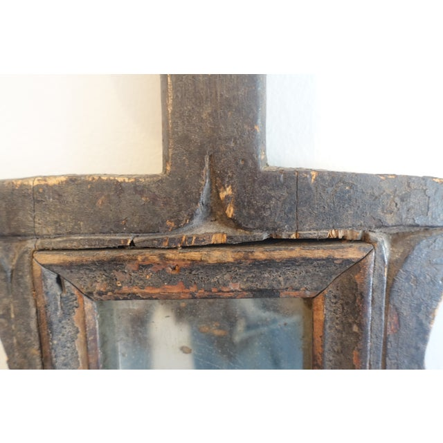 Primitive Wood Mirror For Sale - Image 10 of 13
