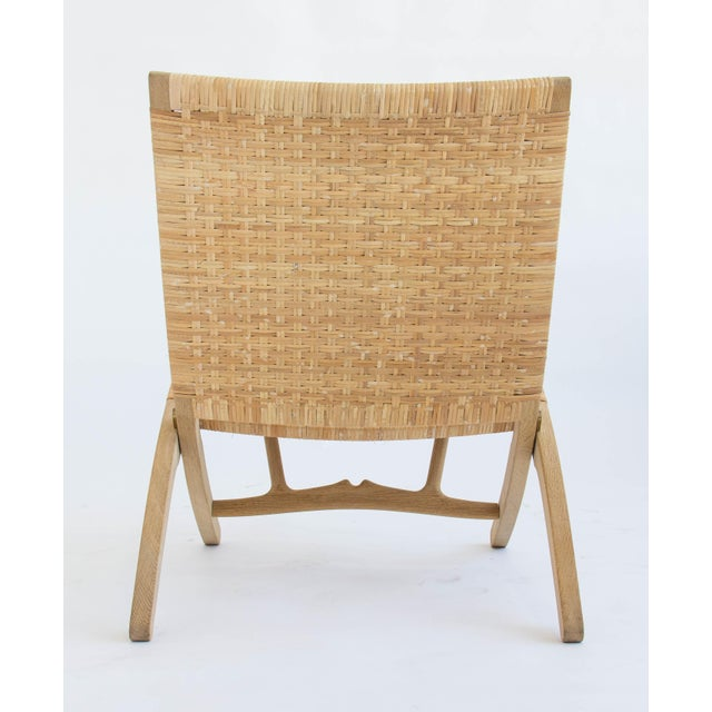Pair of Oak and Cane Folding Lounge Chairs by Hans Wegner for PP Møbler For Sale - Image 10 of 11