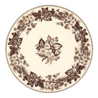 Vintage Floral Pottery Plates For Sale