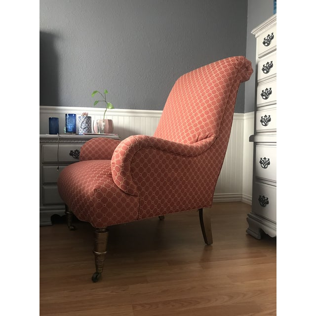 This antique chair was reupholstered by one of Austin's finest reupholstering companies. It was originally pulled from an...