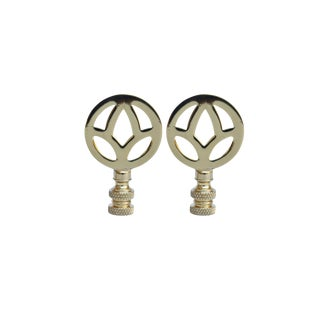 Brass Lamp Finials, a Pair For Sale