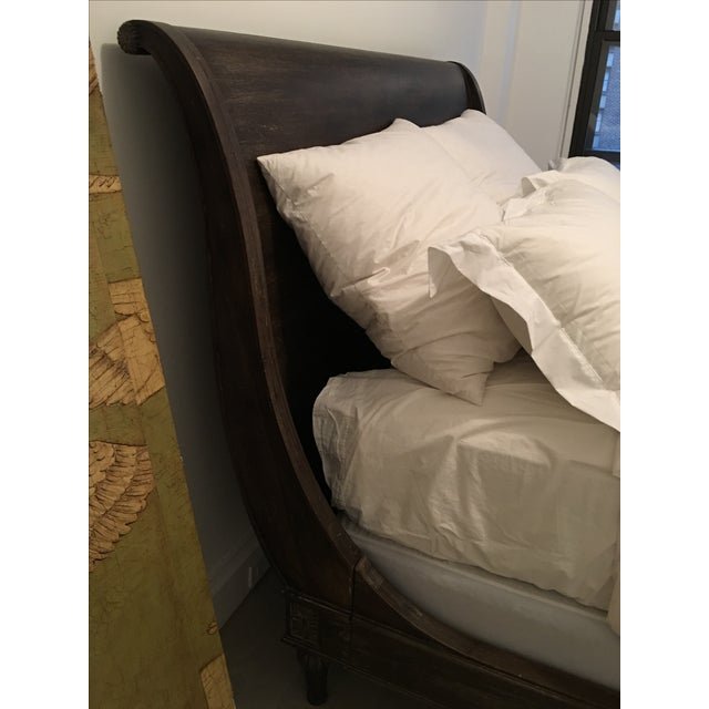 Restoration Hardware Empire Rosette Sleigh Bed - Image 3 of 4