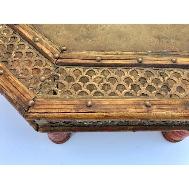 Anglo Raj Moorish Design Octagonal Low Coffee Table For Sale - Image 9 of 12