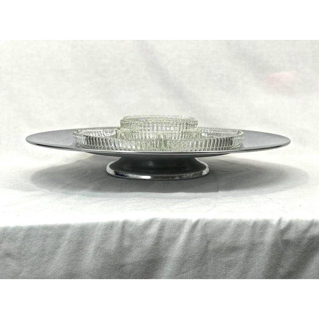 Crystal 1960's Chp 'N Dip Lazy Susan For Sale - Image 7 of 9