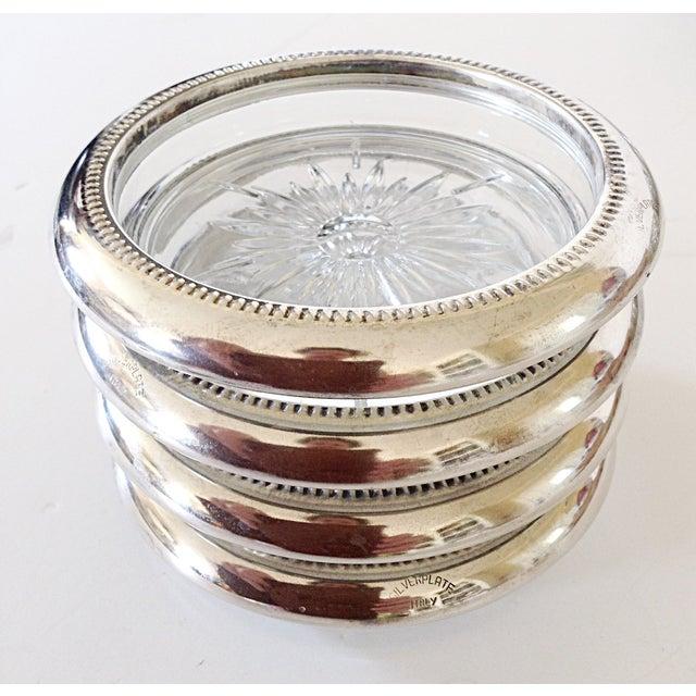 Italian Silver Plate Coasters - Set of 4 - Image 2 of 4