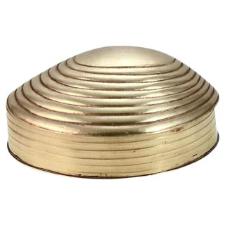 Solid Brass Shell Box For Sale