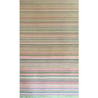 Pottery Barn Vibrant Pastel Wool Rug - 5′2″ × 8′