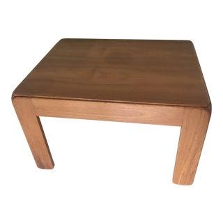 1960s Danish Modern Niels Eilersen Teak Coffee Table For Sale