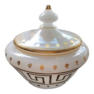 19th Century Opaline Lidded Jar For Sale